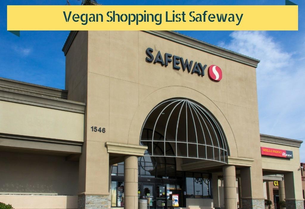 Vegan Shopping List Safeway Photo