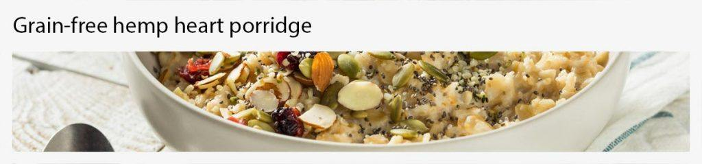 grain free hemp heart porridge