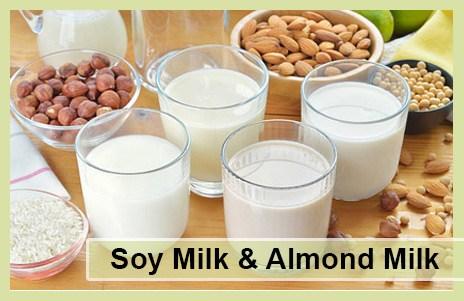 Soy Milk & Almond Milk