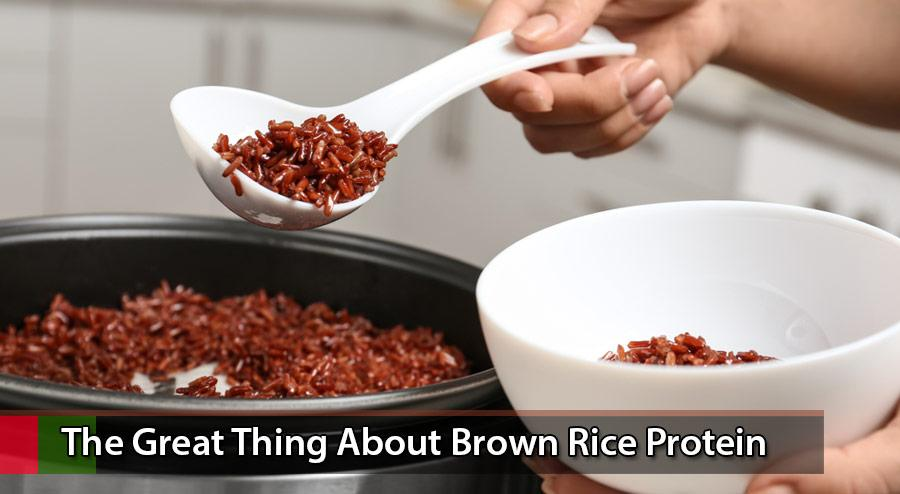 The great thing about brown rice protein