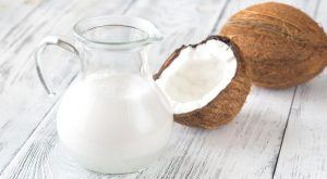 Coconut milk is naturally higher in fats than other vegan milk